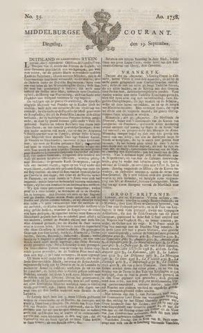 Middelburgsche Courant 1758-09-19