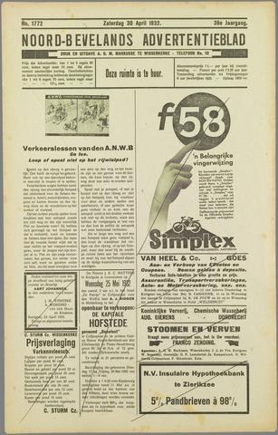 Noord-Bevelands Nieuws- en advertentieblad 1932-04-30