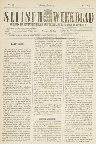 Sluisch Weekblad. Nieuws- en advertentieblad voor Westelijk Zeeuwsch-Vlaanderen 1874-07-31
