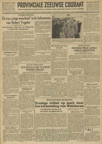 Provinciale Zeeuwse Courant 1951-04-30
