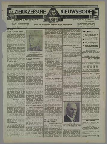 Zierikzeesche Nieuwsbode 1940-08-03
