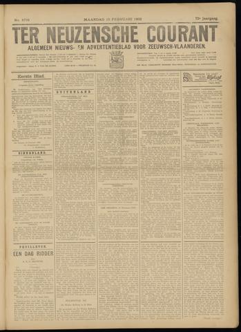 Ter Neuzensche Courant. Algemeen Nieuws- en Advertentieblad voor Zeeuwsch-Vlaanderen / Neuzensche Courant ... (idem) / (Algemeen) nieuws en advertentieblad voor Zeeuwsch-Vlaanderen 1932-02-15