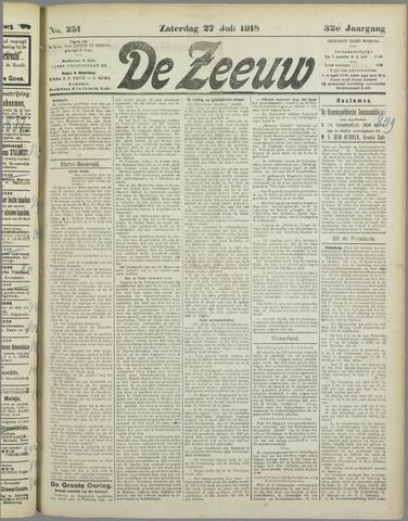 De Zeeuw. Christelijk-historisch nieuwsblad voor Zeeland 1918-07-27