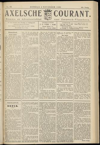 Axelsche Courant 1930-11-04