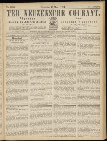 Ter Neuzensche Courant. Algemeen Nieuws- en Advertentieblad voor Zeeuwsch-Vlaanderen / Neuzensche Courant ... (idem) / (Algemeen) nieuws en advertentieblad voor Zeeuwsch-Vlaanderen 1911-03-16