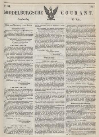 Middelburgsche Courant 1867-06-13
