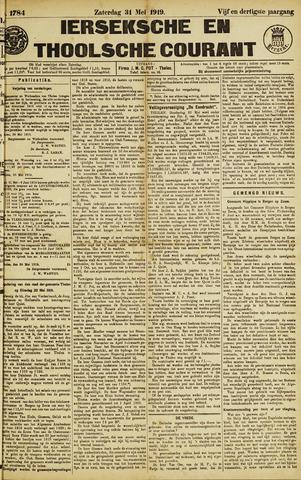Ierseksche en Thoolsche Courant 1919-05-31