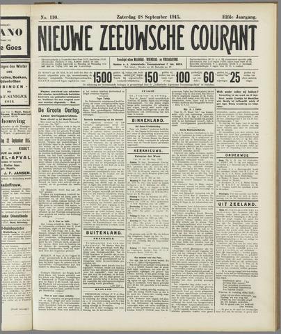 Nieuwe Zeeuwsche Courant 1915-09-18