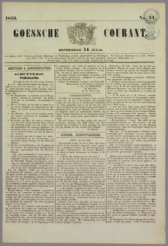Goessche Courant 1853-07-14