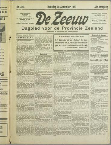 De Zeeuw. Christelijk-historisch nieuwsblad voor Zeeland 1929-09-30