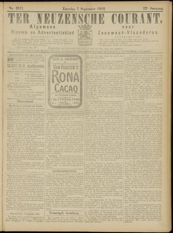 Ter Neuzensche Courant. Algemeen Nieuws- en Advertentieblad voor Zeeuwsch-Vlaanderen / Neuzensche Courant ... (idem) / (Algemeen) nieuws en advertentieblad voor Zeeuwsch-Vlaanderen 1912-09-07