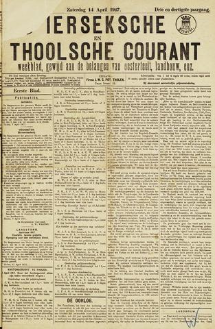 Ierseksche en Thoolsche Courant 1917-04-14