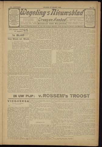 Zeeuwsch Nieuwsblad/Wegeling's Nieuwsblad 1931-03-27