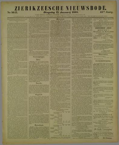 Zierikzeesche Nieuwsbode 1889-01-15