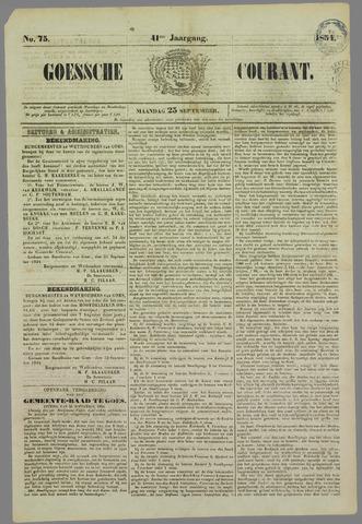 Goessche Courant 1854-09-25