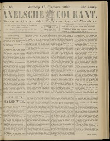 Axelsche Courant 1920-11-13