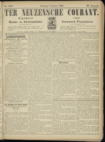 Ter Neuzensche Courant. Algemeen Nieuws- en Advertentieblad voor Zeeuwsch-Vlaanderen / Neuzensche Courant ... (idem) / (Algemeen) nieuws en advertentieblad voor Zeeuwsch-Vlaanderen 1888-10-06