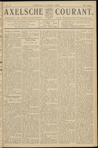 Axelsche Courant 1933-04-07