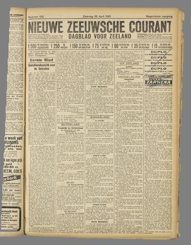 Nieuwe Zeeuwsche Courant 1923-04-28