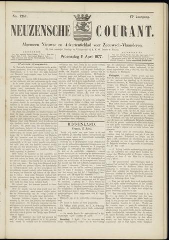 Ter Neuzensche Courant. Algemeen Nieuws- en Advertentieblad voor Zeeuwsch-Vlaanderen / Neuzensche Courant ... (idem) / (Algemeen) nieuws en advertentieblad voor Zeeuwsch-Vlaanderen 1877-04-11