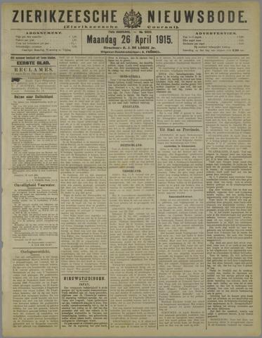 Zierikzeesche Nieuwsbode 1915-04-26