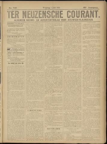 Ter Neuzensche Courant. Algemeen Nieuws- en Advertentieblad voor Zeeuwsch-Vlaanderen / Neuzensche Courant ... (idem) / (Algemeen) nieuws en advertentieblad voor Zeeuwsch-Vlaanderen 1921-07-01