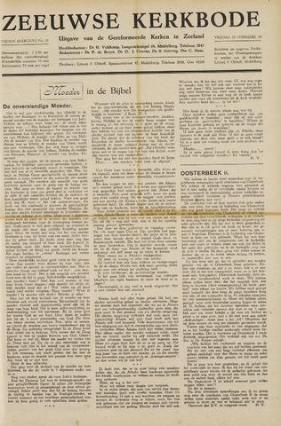 Zeeuwsche kerkbode, weekblad gewijd aan de belangen der gereformeerde kerken/ Zeeuwsch kerkblad 1949-02-25