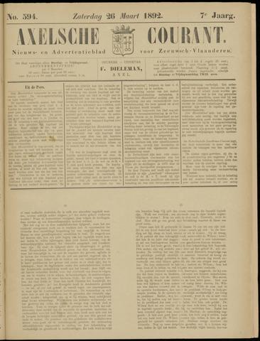 Axelsche Courant 1892-03-26