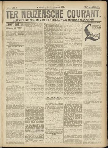 Ter Neuzensche Courant. Algemeen Nieuws- en Advertentieblad voor Zeeuwsch-Vlaanderen / Neuzensche Courant ... (idem) / (Algemeen) nieuws en advertentieblad voor Zeeuwsch-Vlaanderen 1921-11-14