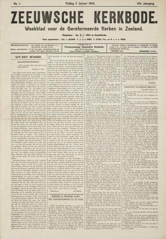 Zeeuwsche kerkbode, weekblad gewijd aan de belangen der gereformeerde kerken/ Zeeuwsch kerkblad 1930