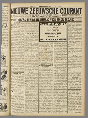 Nieuwe Zeeuwsche Courant 1931-08-04