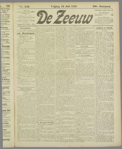 De Zeeuw. Christelijk-historisch nieuwsblad voor Zeeland 1916-07-14