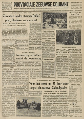 Provinciale Zeeuwse Courant 1956-08-22