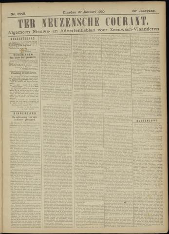Ter Neuzensche Courant. Algemeen Nieuws- en Advertentieblad voor Zeeuwsch-Vlaanderen / Neuzensche Courant ... (idem) / (Algemeen) nieuws en advertentieblad voor Zeeuwsch-Vlaanderen 1920-01-27
