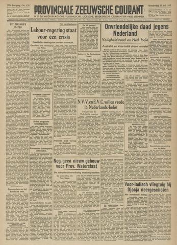 Provinciale Zeeuwse Courant 1947-07-31