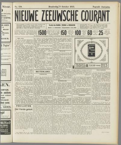 Nieuwe Zeeuwsche Courant 1913-10-09