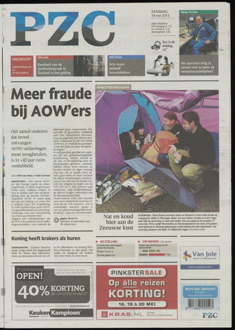 Provinciale Zeeuwse Courant 2013-05-18