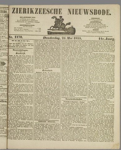 Zierikzeesche Nieuwsbode 1855-05-24