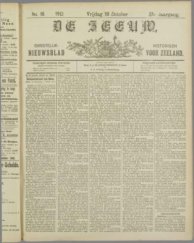 De Zeeuw. Christelijk-historisch nieuwsblad voor Zeeland 1912-10-18