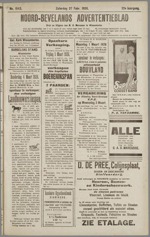 Noord-Bevelands Nieuws- en advertentieblad 1926-02-27