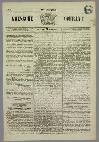 Goessche Courant 1854-11-27