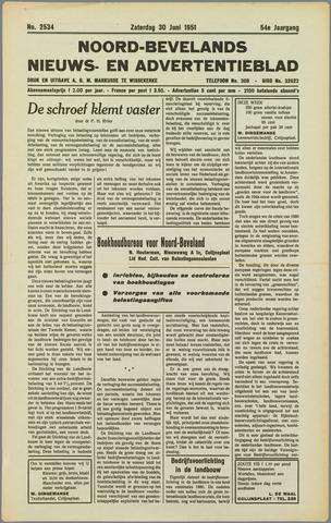 Noord-Bevelands Nieuws- en advertentieblad 1951-06-30