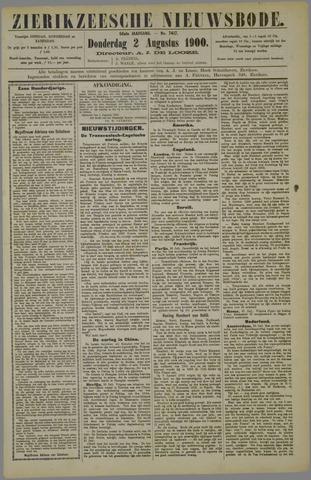 Zierikzeesche Nieuwsbode 1900-08-02