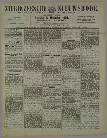 Zierikzeesche Nieuwsbode 1903-12-12