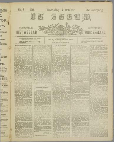 De Zeeuw. Christelijk-historisch nieuwsblad voor Zeeland 1911-10-04
