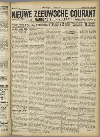 Nieuwe Zeeuwsche Courant 1922-10-23