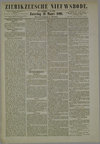 Zierikzeesche Nieuwsbode 1891-03-21