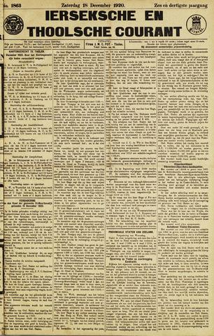 Ierseksche en Thoolsche Courant 1920-12-18