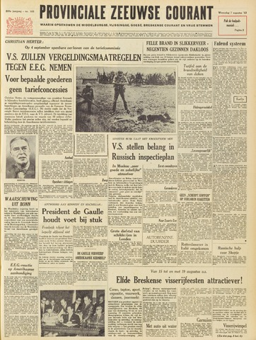 Provinciale Zeeuwse Courant 1963-08-07