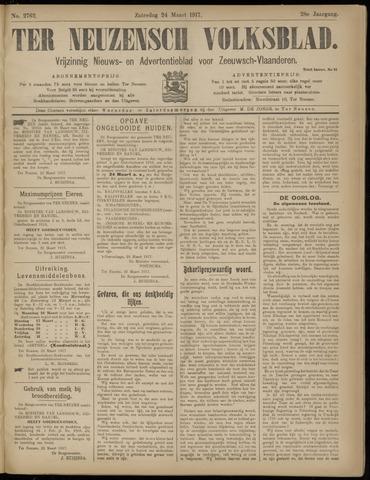 Ter Neuzensch Volksblad. Vrijzinnig nieuws- en advertentieblad voor Zeeuwsch- Vlaanderen / Zeeuwsch Nieuwsblad. Nieuws- en advertentieblad voor Zeeland 1917-03-24